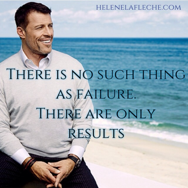 Tony Robbins quote on failure