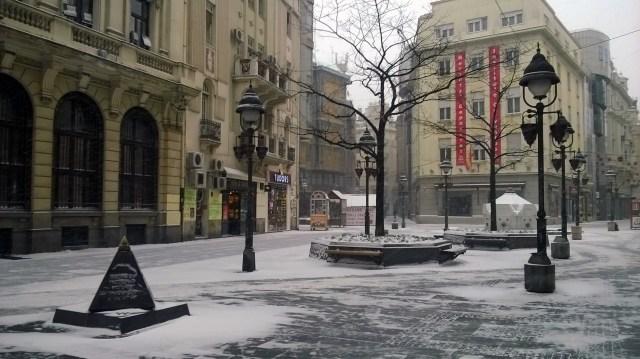 Pedestrian zone in the center of Belgrade