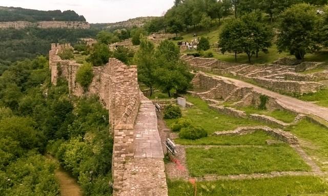 Defensive walls of Tsarevets fortress