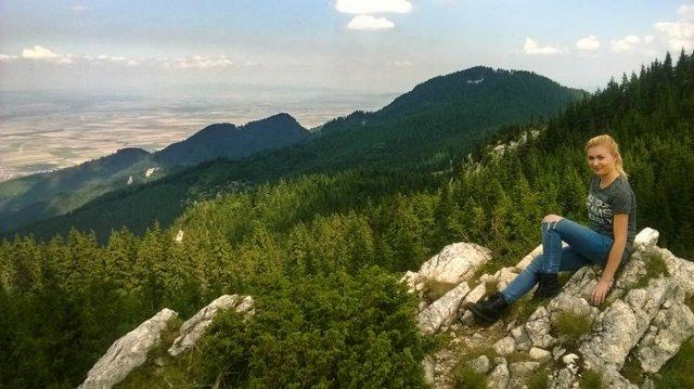On top of Piatra Mare Peak