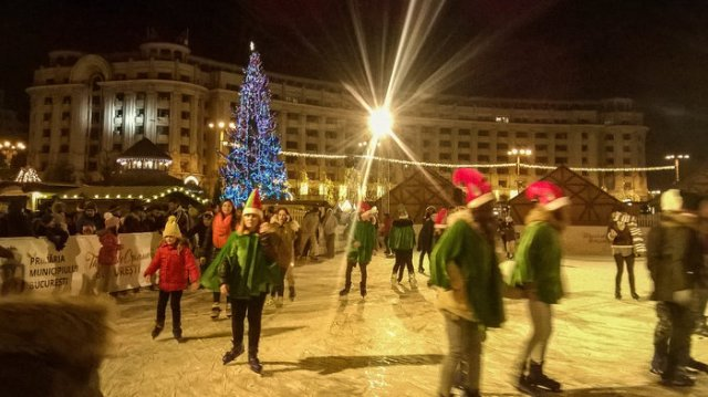 Bucharest Christmas Market Ice skating rink