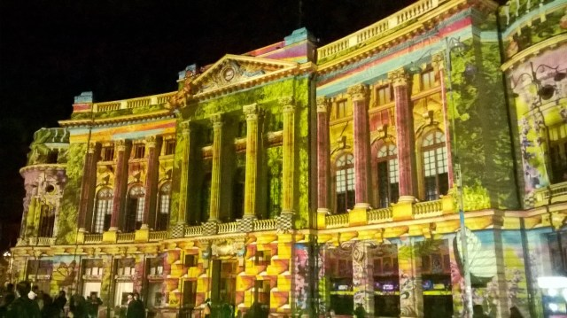 Video mapping at the Central University Library of Bucharest