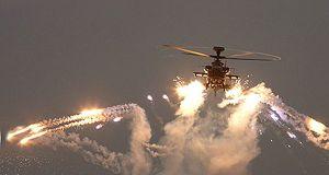 Apache Helicopter Gun firing
