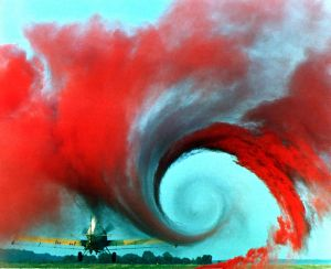 Vortex created by aircraft wing (public domain image.)