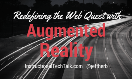 Redefining the Web Quest using Augmented Reality