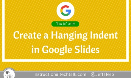 Create a Hanging Indent in Google Slides