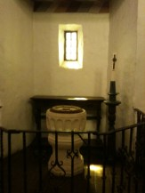 Baptismal fount and alcove