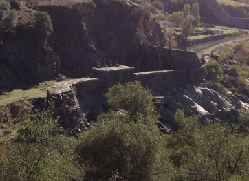 Original Folsom Dam, 1880's, now on Prison property, inaccessible.