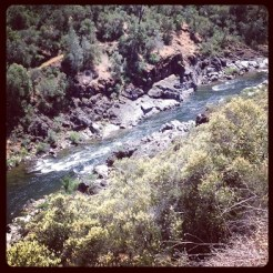South Fork American River from Trail