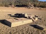 Machinery foundations (water pumps?) near Zantgraf Mine.