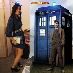 My Tardis Costume and a Tardis