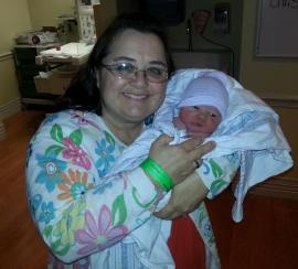3/31/13 Sissy holding Elliette Elaine Bradford