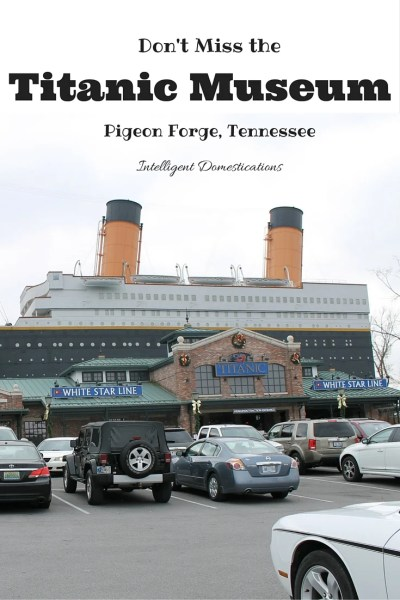 Don't miss a visit to the Titanic Musuem if you are any where near the Pigeon Forge Tennesse area. You will not be disappointed.