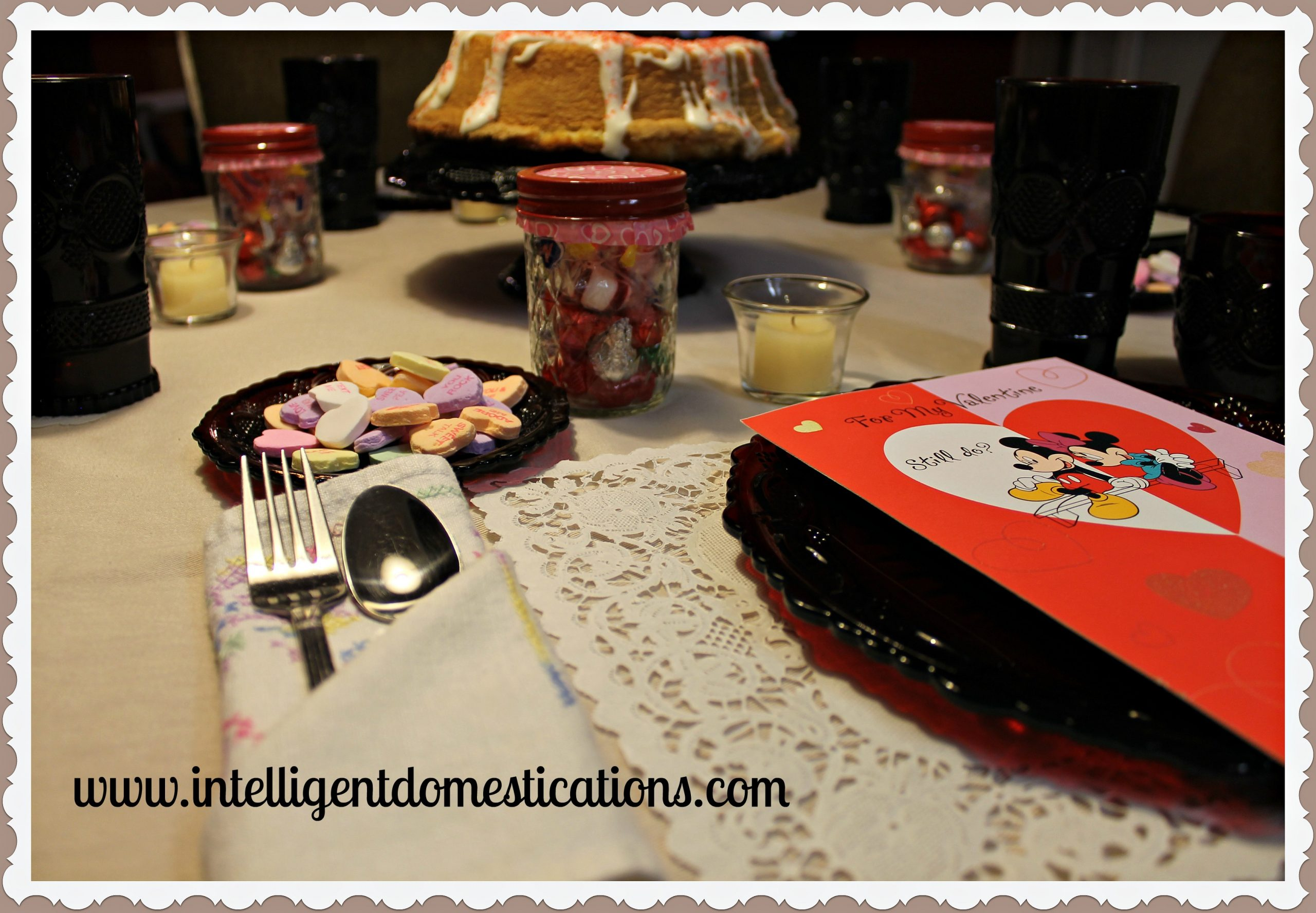Valentine Tablescape Mickey Mouse  Intelligent Domestications