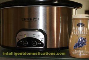 Crockpot and Balsamic for Flat Iron Steak by IntelligentDomestications.com