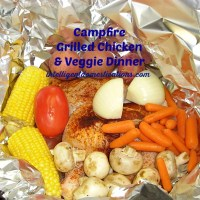 Campfire Grilled Chicken & Veggie Foil Packet Dinner