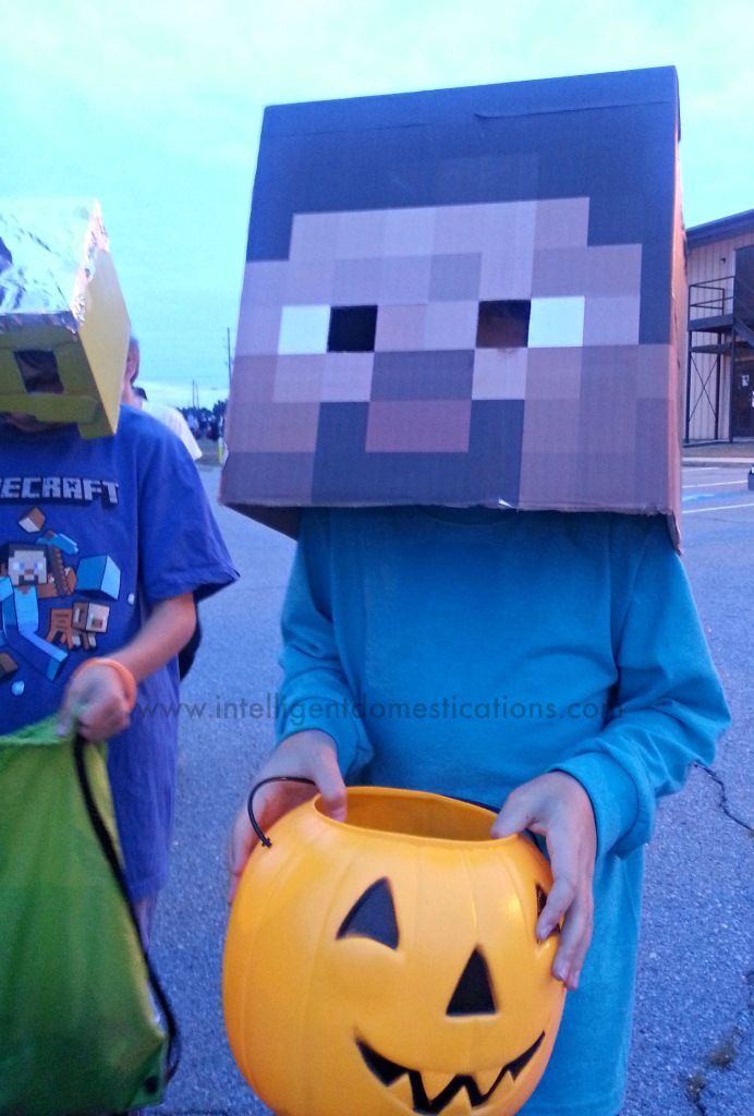 Minecraft Costumes at Trunk or Treat.www.intelligentdomestications.com