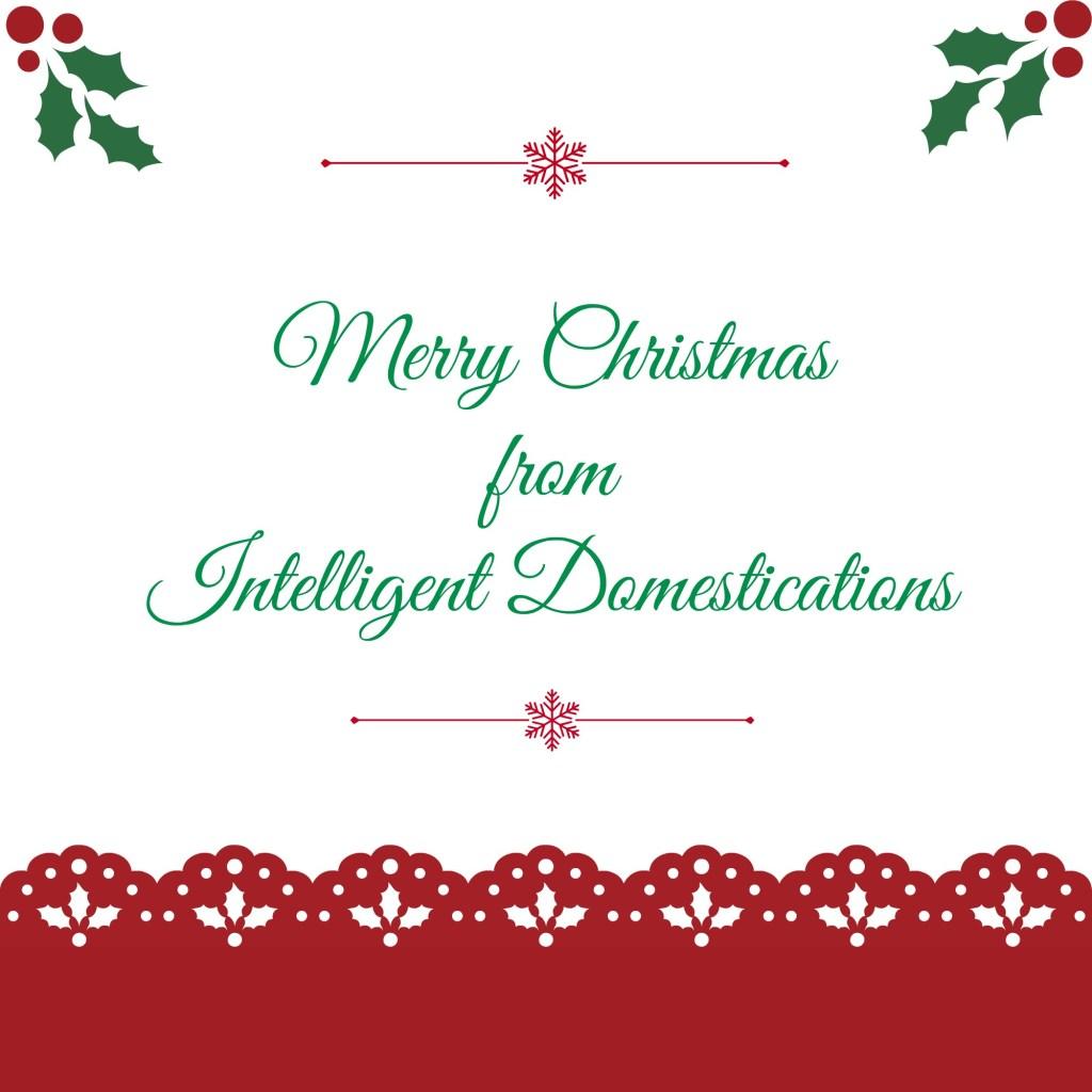 Merry Christmas from Intelligentdomestications.com