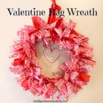Valentine Rag Wreath tutorial found at www.intelligentdomestications.com