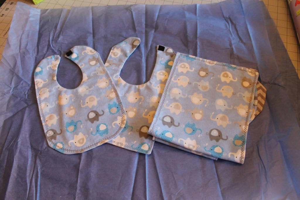 Finished bibs and burp cloths.intelligentdomestications.com