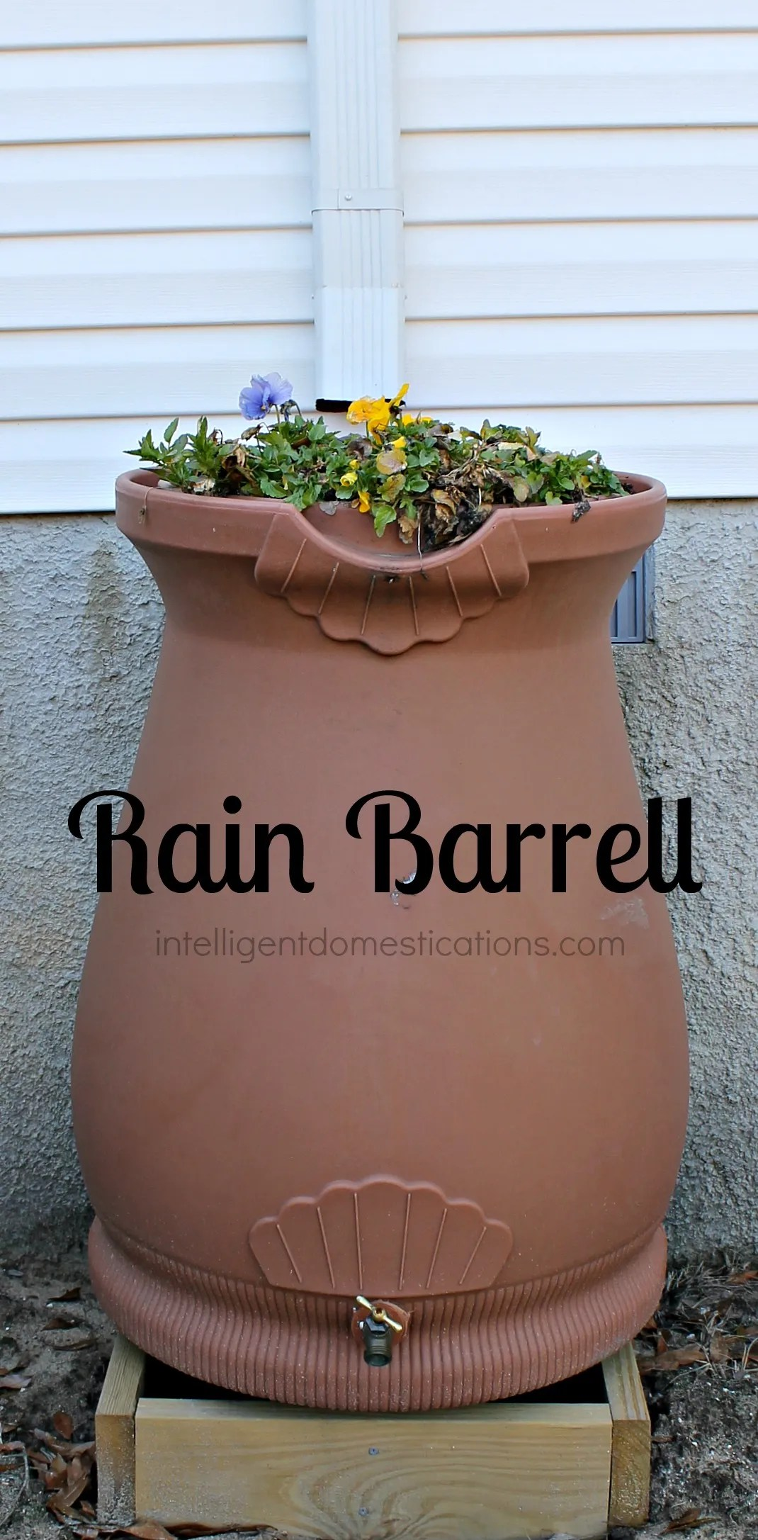 Rain Barrell installed.intelligentdomestications.com
