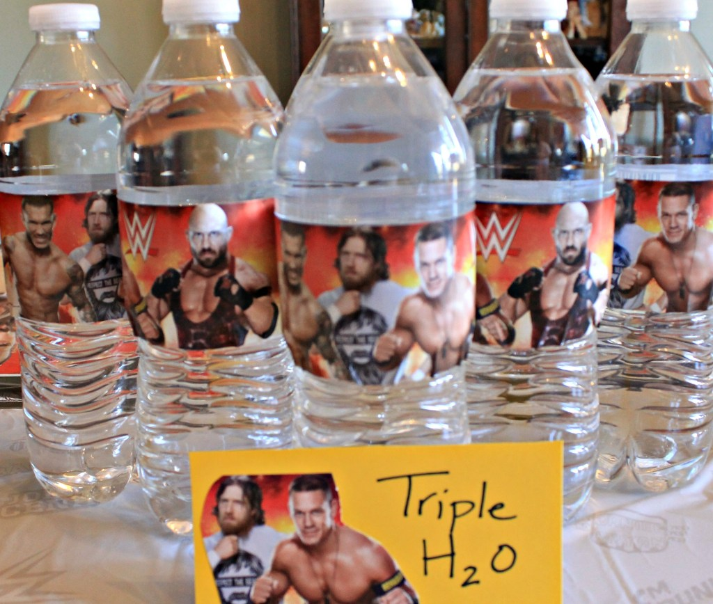 Serve your guests some Triple H2O at your WWE Theme party.intelligentdomestications.com