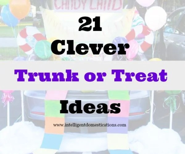 21 Clever Trunk or Treat Ideas 550×550 at www.intelligentdomestications.com