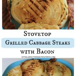 Stovetop Grilled Cabbage Steaks with Bacon.intelligentdomestications.com