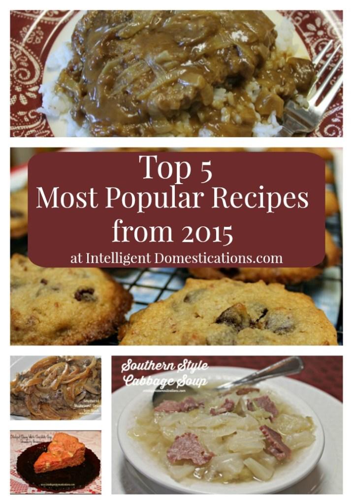 Top 5 Most Popular Recipes from 2015.intelligentdomestications.com