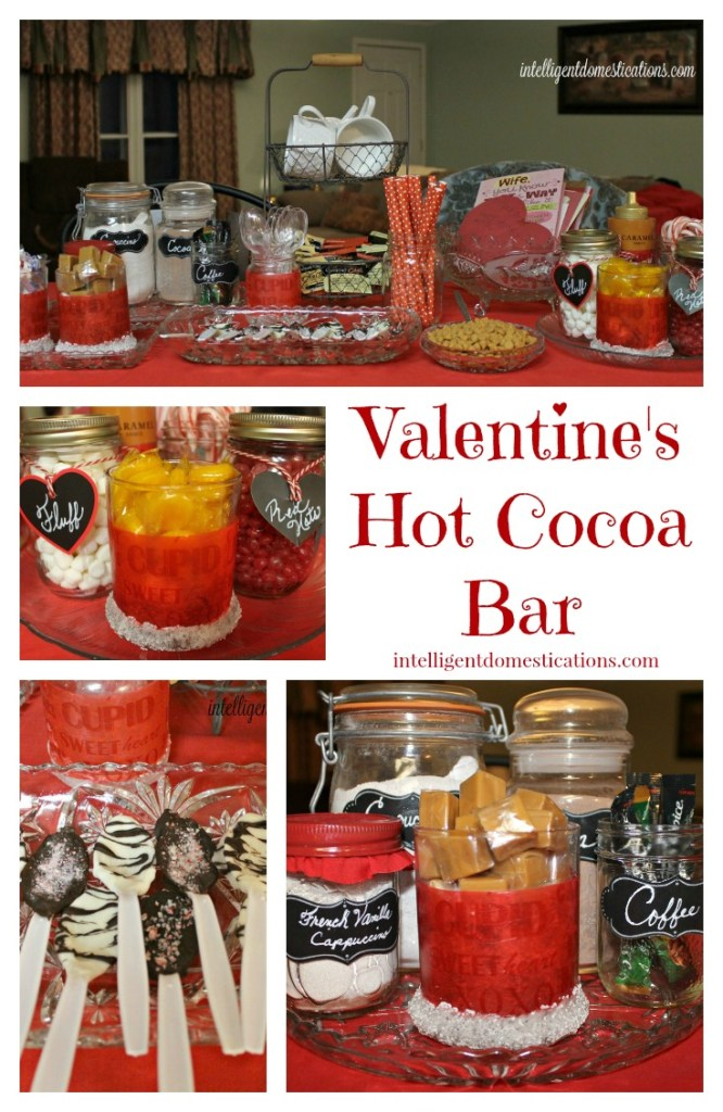 Valentine's theme Hot Cocoa Bar. use what you have to make your own.intelligentdomestications.com