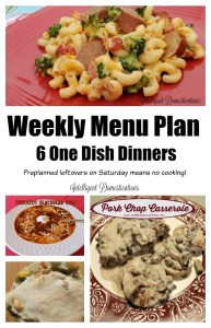 Menu planning makes weeknights so much easier especially with these 6 One Dish dinners. Recipes at intelligentdomestications.com