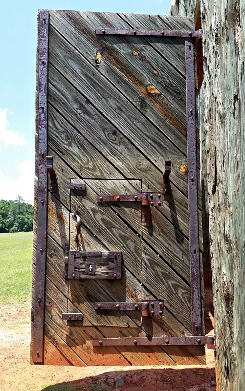 Prisoners arriving at Andersonville were greeted by these heavily forged doors entering the prison site