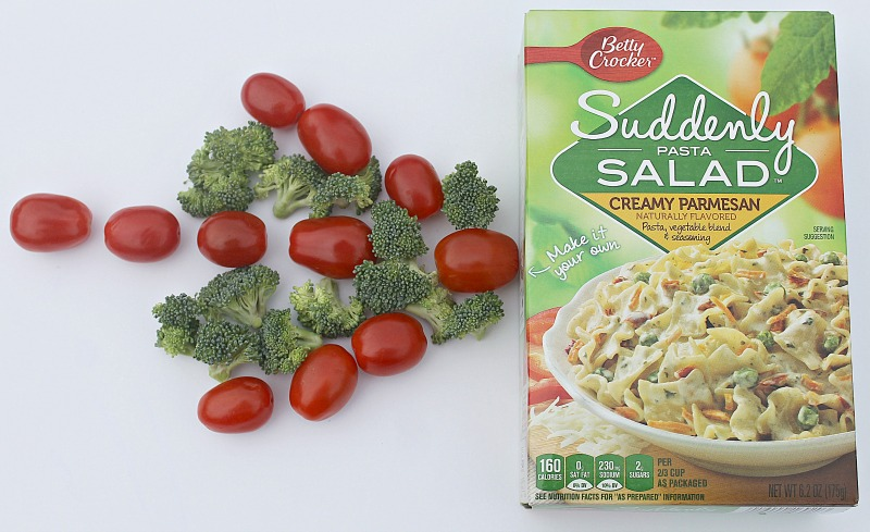 Take a box of Suddenly Salad and Make it Your Own by adding your favorite pasta salad ingredients