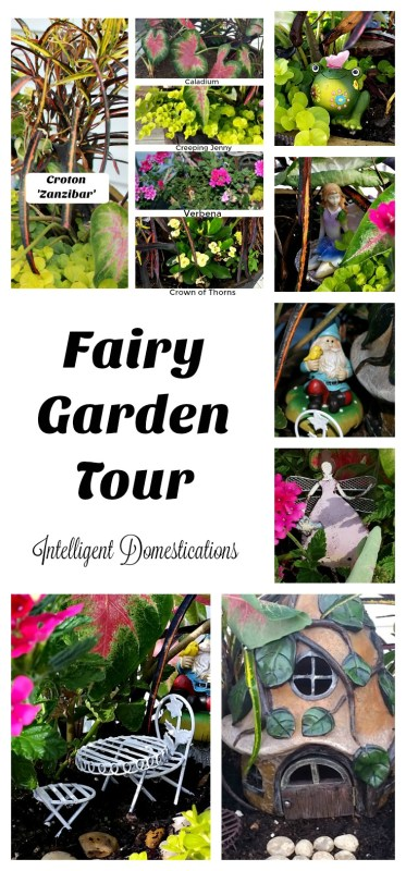 Come on along as we take you on a tour of our Fairy Garden. You'll see all of the accessories, meet the Fairy Princess and learn the names of all the plants in her garden