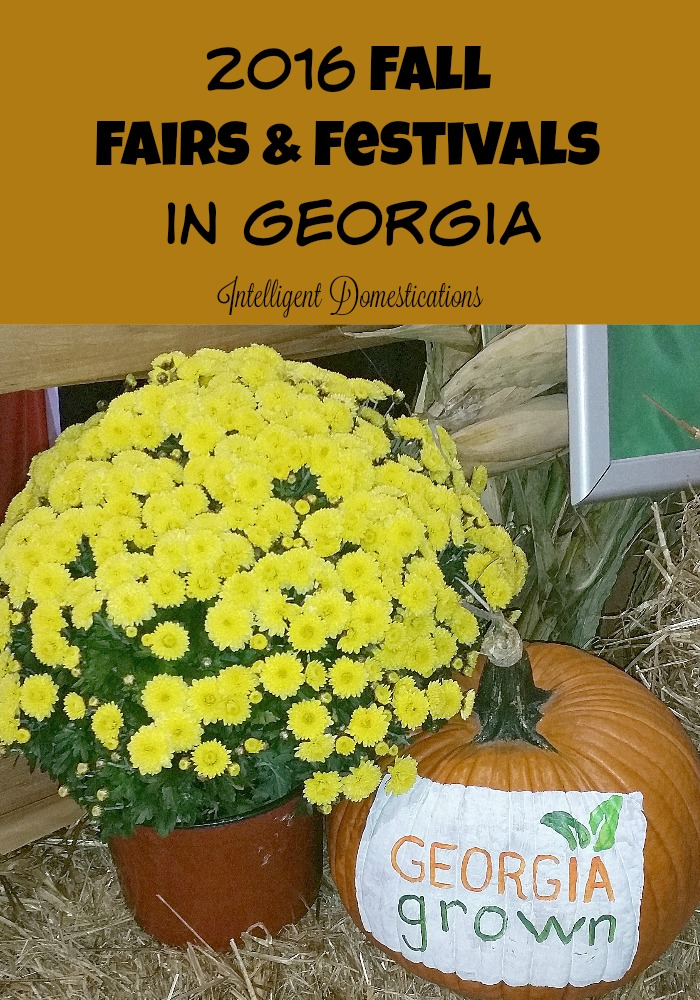 2016 Fall-Fairs-and-Festivals-in-Georgia. Find a comprehensive list at intelligentdomestications.com
