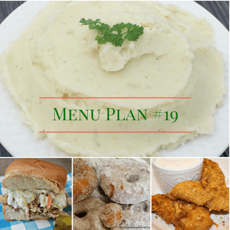 How to make Homemade Mashed Potatoes and Menu Plan #19