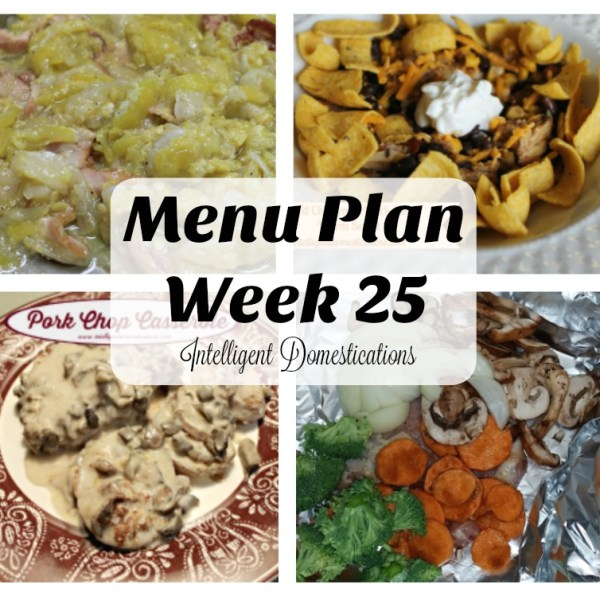 Menu Plan 25 Including Cubed Steak & Gravy