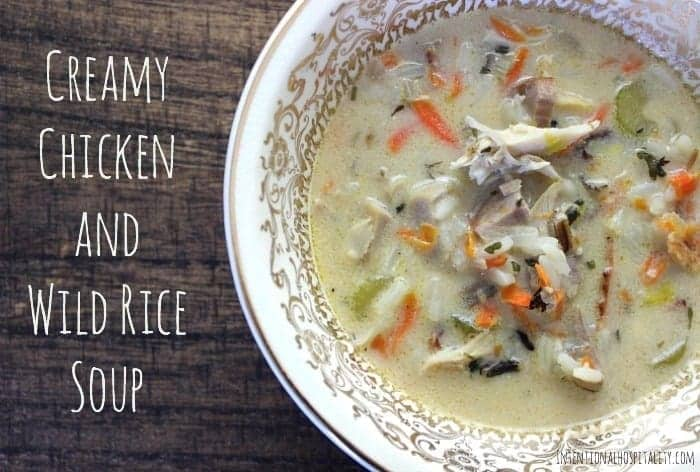 Creamy Chicken and Wild Rice Soup is a delicious soup with bacon, wild brown rice melody and a unique lemon zest flavor. Add a good crusty dipping bread and you have a complete meal that will delight your friends and family.