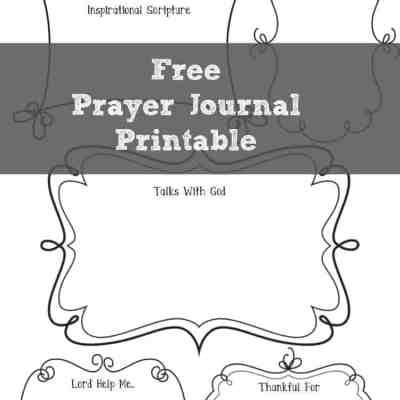 Free Prayer Journal Printable