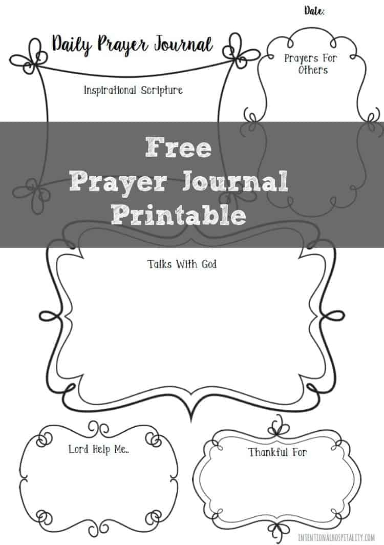 Free Daily Prayer Journal Page A5
