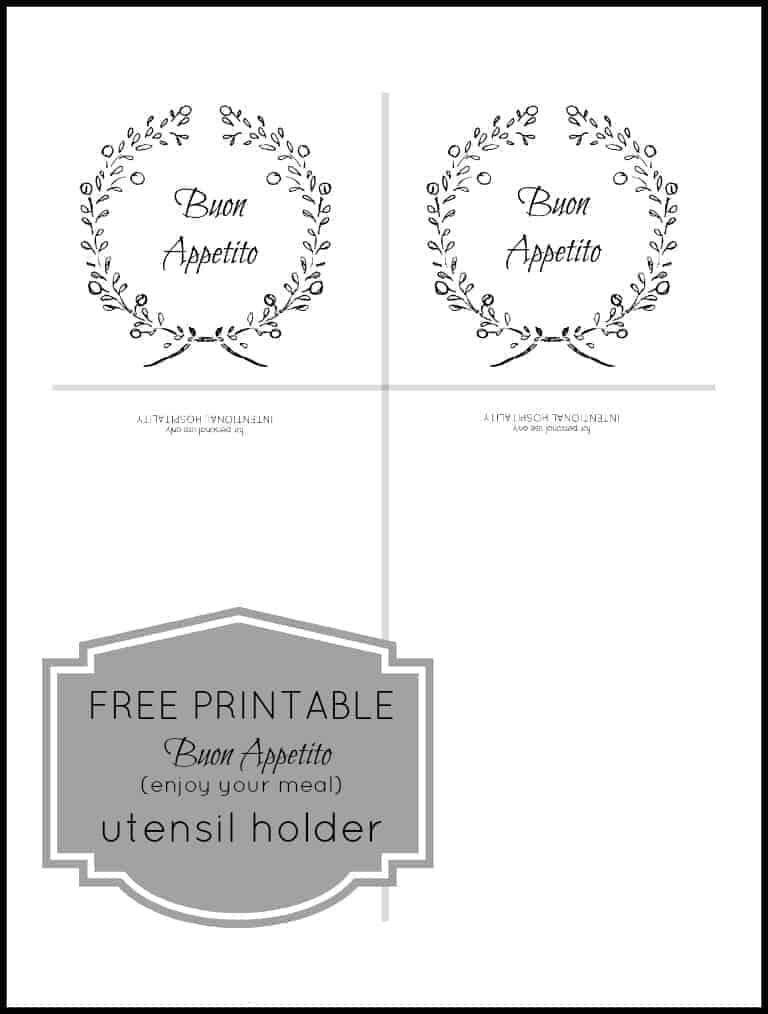 Free Printable Utensil Holder