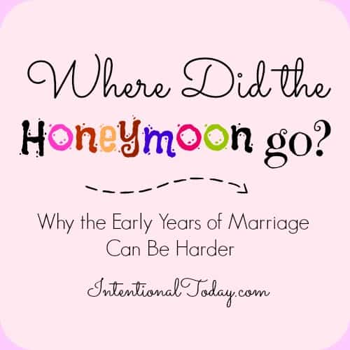 Why the early years of marriage can be harder