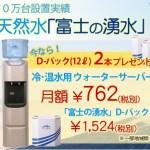 ウォーターサーバー富士の湧水のデメリットは、この3つです。
