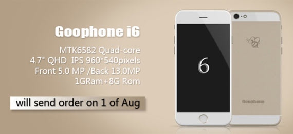 iPhone 6 cloned GooPhone i6 Pre-Order Starts Online