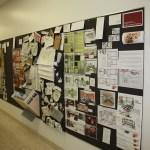 Pin up of design charrette work