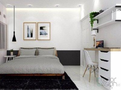 Desain Kamar Monokrom; Kamar Tidur Putih Hitam yang Anti Suram | InteriorDesign.id
