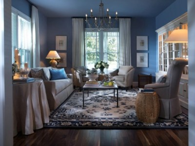 Blue living room decorating ideas - Interior design