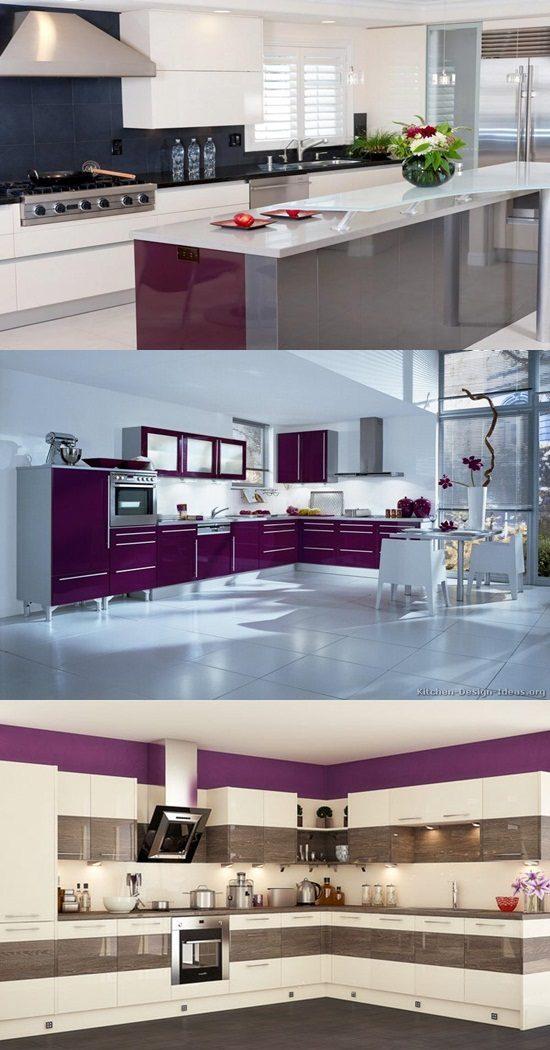 italian traditional purple kitchen designs interior design. Black Bedroom Furniture Sets. Home Design Ideas