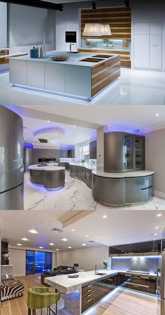 futuristic kitchen led lighting led