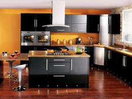 Add glamour to your kitchen by modern design ideas